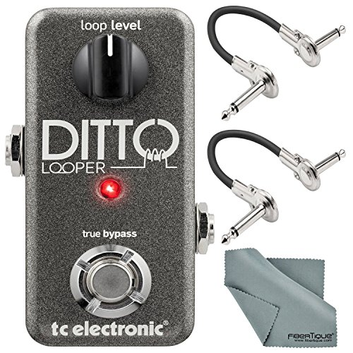TC Electronic Ditto Looper Effects Pedal and Accessory Bundle with Cables + Fibertique Cleaning Cloth by Photo Savings