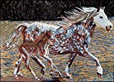 Mozaico - Wonderful Horse Mosaic Marble and Natural Stone Handmade Artwork Mural Design MA138