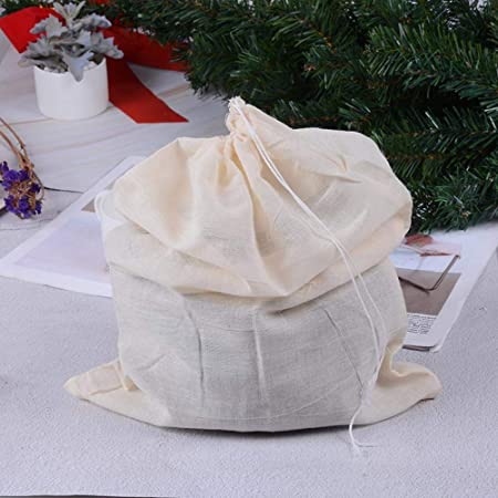 Bolsitas de té de algodón Bolsas de cordón Reutilizables Bolsa de Filtro colador para Nuez Leche Té Jugo de Fruta Bolsitas de té vacías 30x40cm: Amazon.es: Hogar
