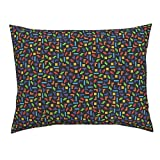 Roostery Tetris Standard Knife Edge Pillow Sham Gaming Geek by Spacefem 100% Cotton Sateen