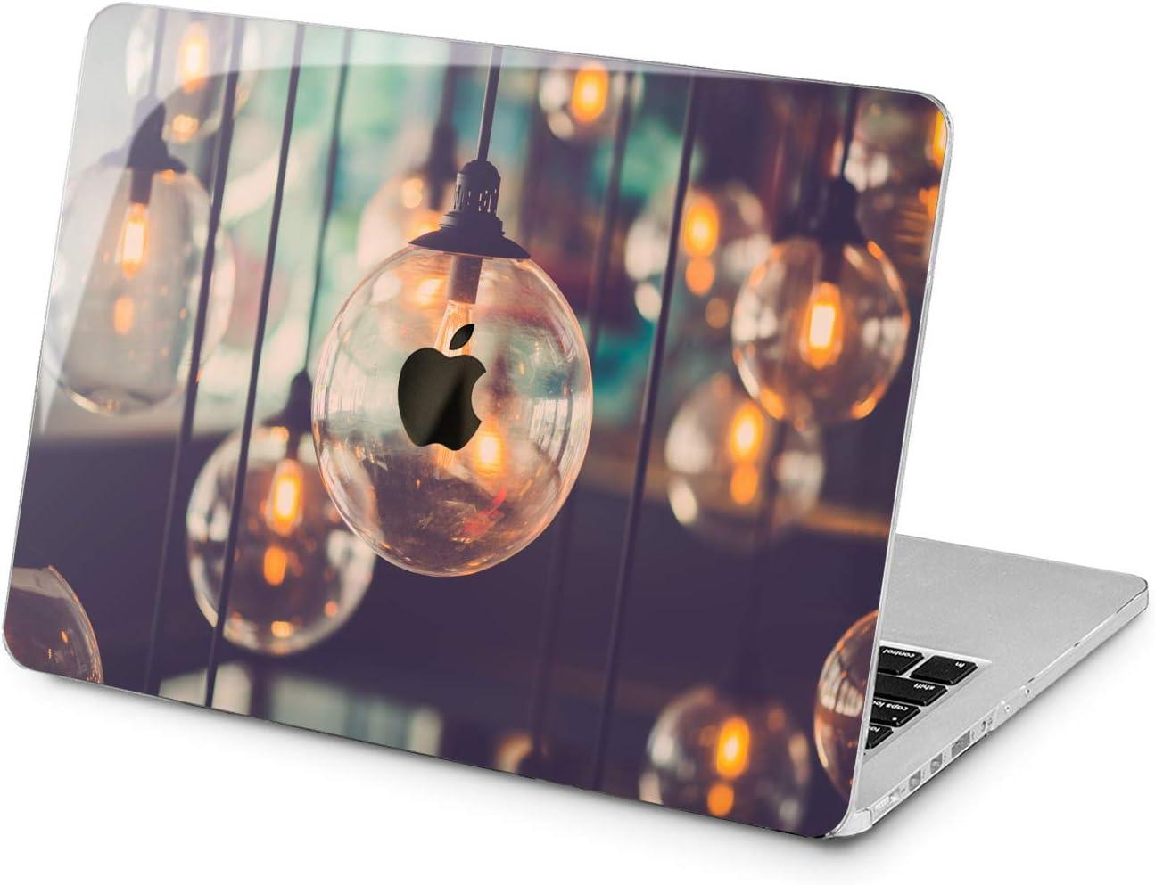 "Cavka Hard Shell Case for Apple MacBook Pro 13"" 2019 15"" 2018 Air 13"" 2020 Retina 2015 Mac 11"" Mac 12"" Protective Pattern Light Design Print New Cover Unique Laptop Vintage Plastic Bulbs Lamp Gentle"