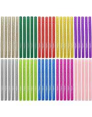 Ewparts 50 Pack Glitter Hot Melt Adhesive Gule Stick 7 x 100mm Multi Color (Glitter Glue Stick)