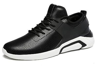 SHOWHOW Herren Bequem Sportschuhe Low Cut Freizeitschuhe Sneakers Schwarz 37 EU 0u7yEzzpgl