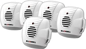 Bell & Howell 501015PK Ultrasonic Pest Repeller with Nightlight Rodent Control