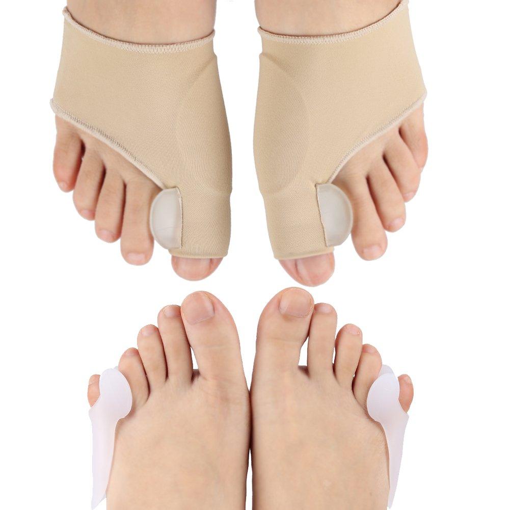 Bunion Corrector & Bunion Relief Protector Sleeves Kit - Gel Bunion Pads Cushion Splint Orthopedic Bunion Protector for Men and Women (4 PCS)
