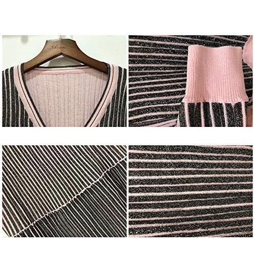 Versión Plisada En Con Falda De Mujer Albaricoque Y Cuello Para Shirloy Glamour Alta V Botones OSq5Iww