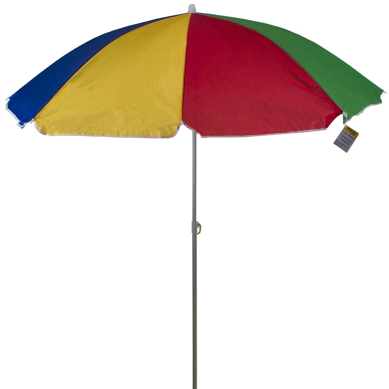 Marko Outdoor Multi Coloured Beach Umbrella Garden Outdoor Patio Tilting Tilt Parasol Sun Shade Protection