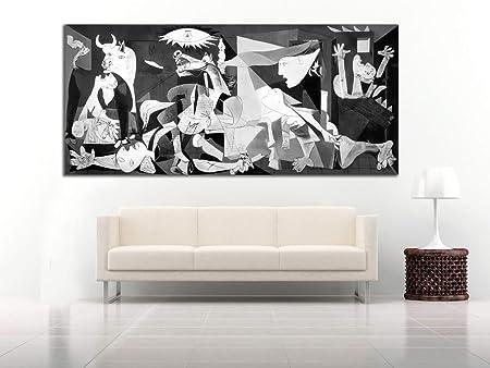 Cuadro Lienzo el Guernica de Picasso - 50x22cm - Fabricado en España - Varias Medidas a Elegir - Impresión en