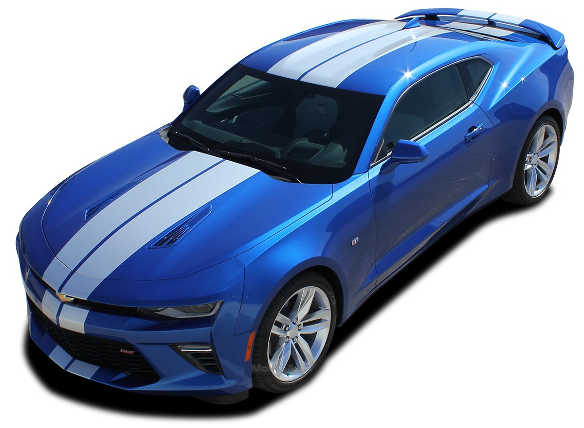 TURBO RALLY SS : 2016 2017 2018 Chevy Camaro Vinyl Graphics Rally Hood Trunk Spoiler Racing Stripes Vinyl Graphic 3M Decal Kit (SS MODEL ONLY) (Color-3M 58 ...