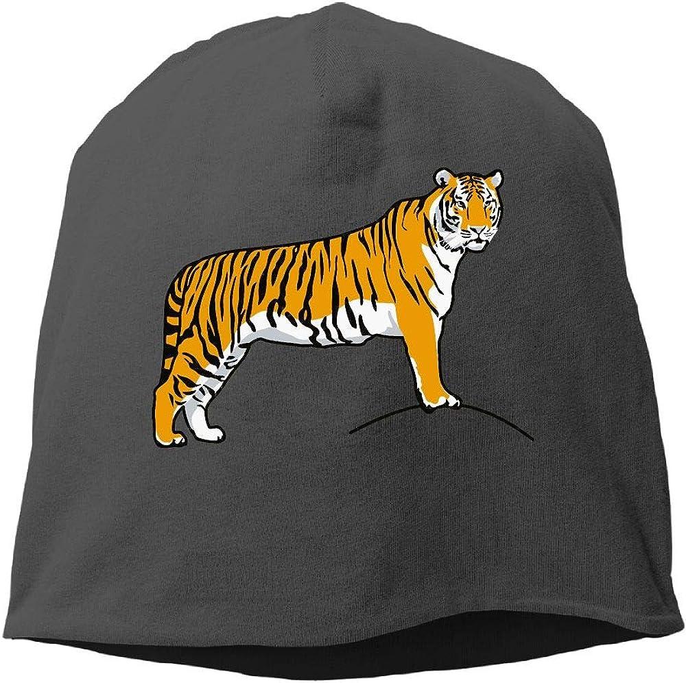 Tiger Clip Art Men Women Winter Helmet Liner Fleece Skull Cap Beanie Hat for Skiing Black