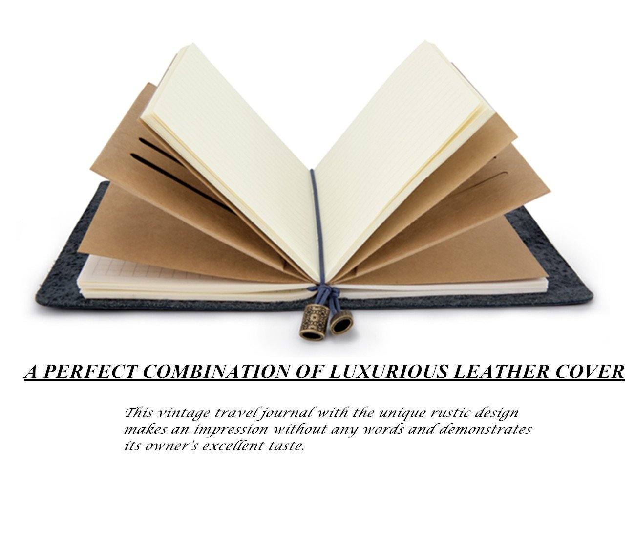 Amazon.com: Cuaderno de viaje de piel rellenable hecho a ...
