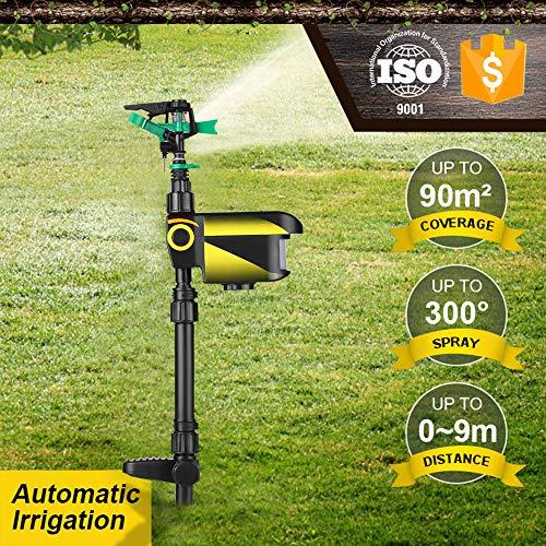 Lawn Sprinkler, KKmoon Solar Powered Motion Activated