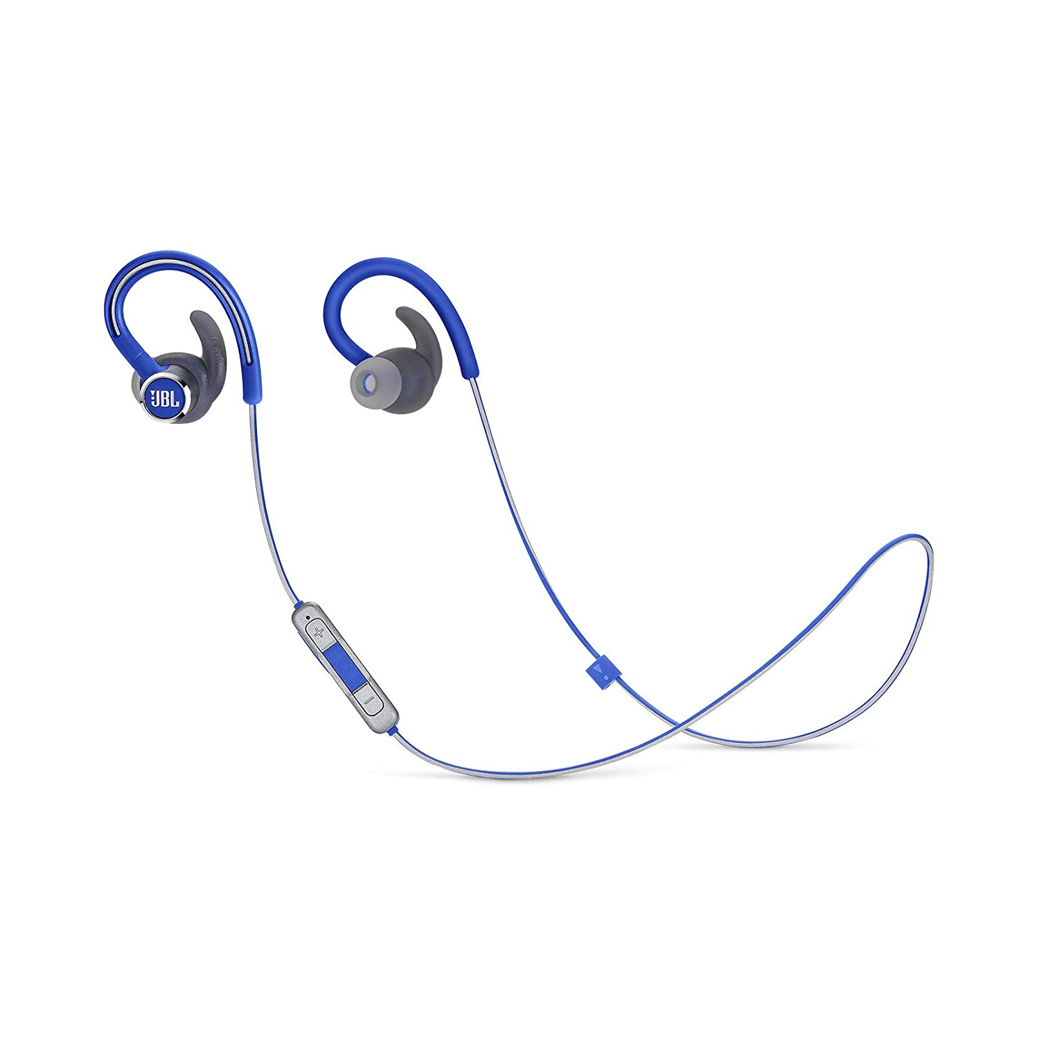 amazon com: jbl reflect contour 2 wireless sport in-ear headphones with  three-button remote and microphone - blue: electronics