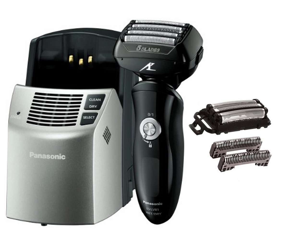 Panasonic ARC5 Blade Shaver w/ Auto Cleaner & Electric Razor Replacement Set