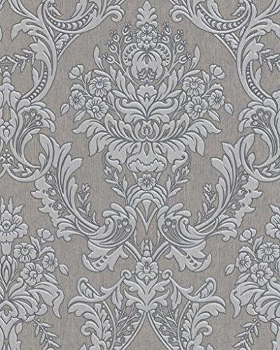(Graham & Brown 31-036 Legacy Province Damask Wallpaper, Grey)