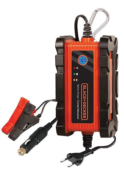Black+Decker BC6BDW Cargador/Mantenedor para Batería, 6 Amp ...