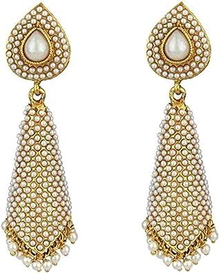 women wedding earrings Traditional Indian Jhumka earrings Women Silver earrings party earring Antique Jewelry earrings fashion earrings