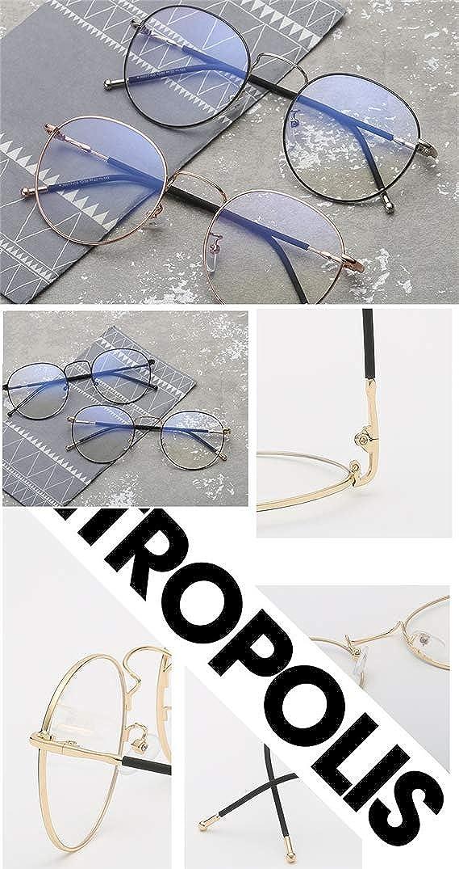 Unisex Silber Und Schwarz Retro Sixties Style Runde Metall Brillen Damen Herren Klare Linse Brille/Ohne Sehst/ärke Fensterglas Brille Herren Damen