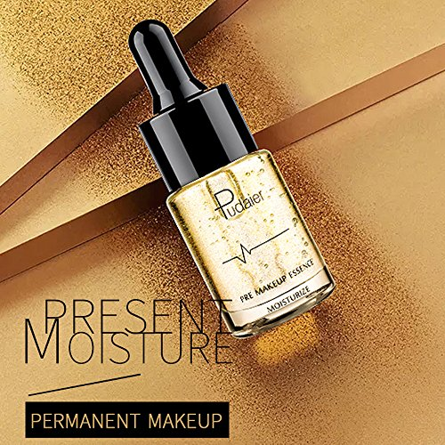 Anti Aging Moisturizer Serum for Face, Neck & Lips, Leegoal 24K Gold Foil Essence Before Makeup Foundation, Extract Liquid for Sensitive, Oily or Severely Dry Skin Pre Makeup Base