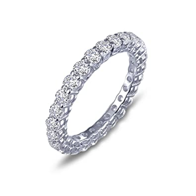 742cdcfcca836 Lafonn Classic Sterling Silver Platinum Plated Lassire Simulated Diamond  Ring (1.35 CTTW)