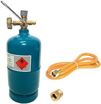 Botella de gas vacía rellenable 0,5 kg/1,2 l camping barbacoa ...