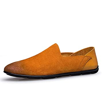 Hongjun-shoes, Zapatos sin Cordones para Hombre Zapatos Mocasines Casuales, Mocasines para Hombre 2018 (Color : Marrón, tamaño : 44 EU): Amazon.es: Hogar