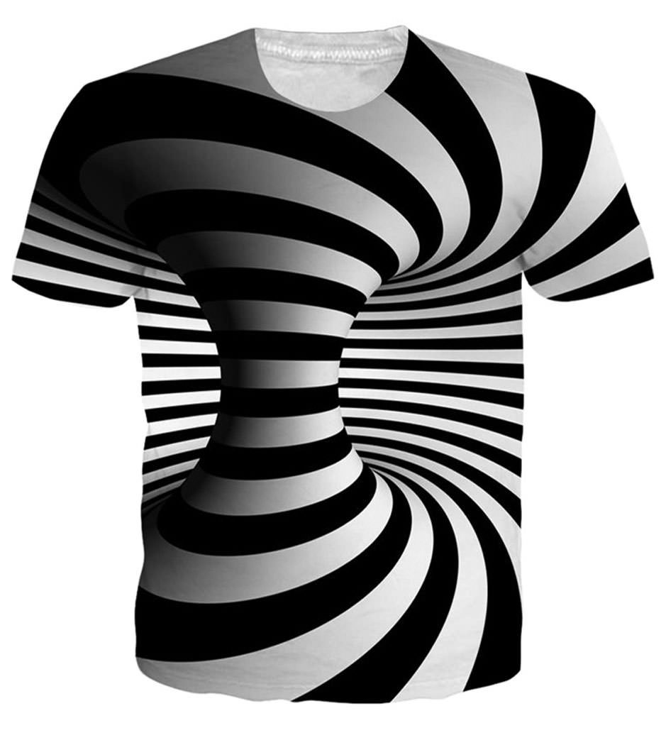 Chiclook Cool Hipster Black and White Vertigo Hypnotic Hip Hop Tshirts Streetwear