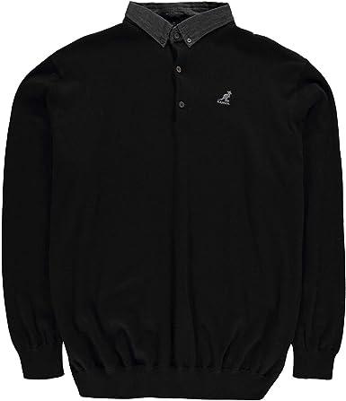 Kangol Hombre Malax Camiseta Polo De Punto Negro 5XL: Amazon.es ...