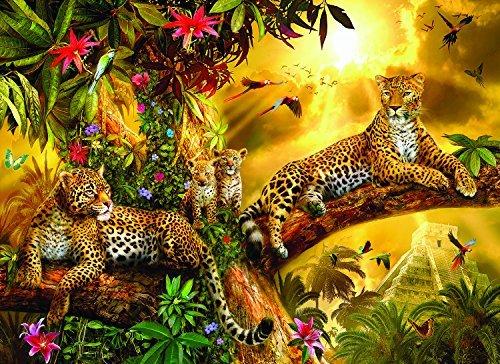 SunsOut Jungle Jaguars 500 Large Size Piece Jigsaw Puzzle
