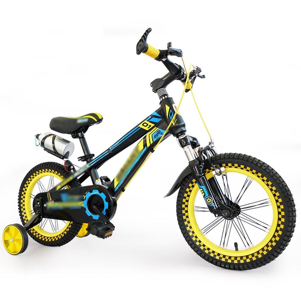 HAIZHEN マウンテンバイク 子供の自転車ベビーカー14/18インチマウンテンバイクレッドイエローショックアブソリュート自転車 新生児 B07C6RL2LC 14 inches|イエロー いえろ゜ イエロー いえろ゜ 14 inches