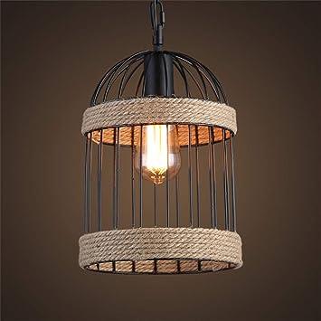 SGWH ® Lámparas de araña de Cuerda de cáñamo Vintage, Luces ...