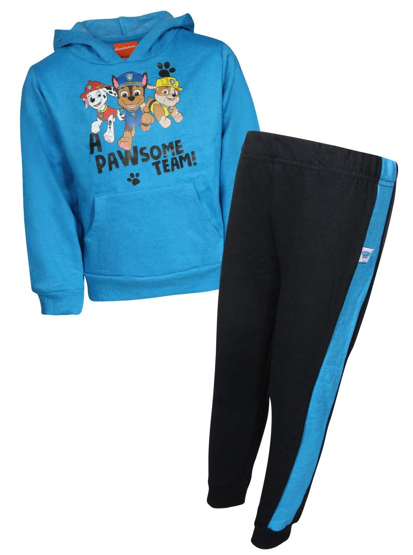 Nickelodeon Paw Patrol Boys 2-Piece Pull Over Fleece Hoodie Sweatpant Set, Pawsome Team, Size 4T'
