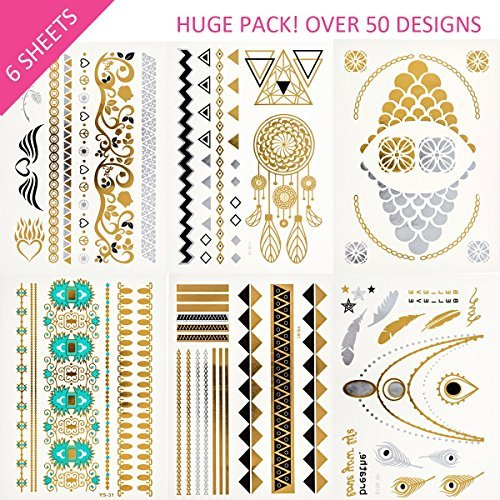 Temporary Fashion Stickers Removable Waterproof