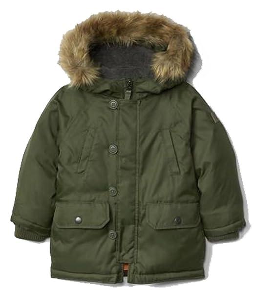 36729b247 Baby Gap Toddler Boys Green Warmest Down Snorkel Parka Winter Coat ...