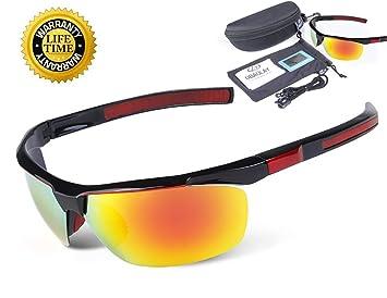 Polarizadas Deportes Gafas de sol de protección UV400 Visión Nocturna, dorado