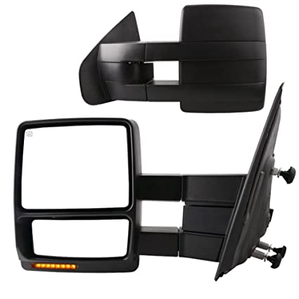Yitamotor Towing Mirrors For Ford F Power Heated With Led Signal And Puddle Light Tow Mirrors