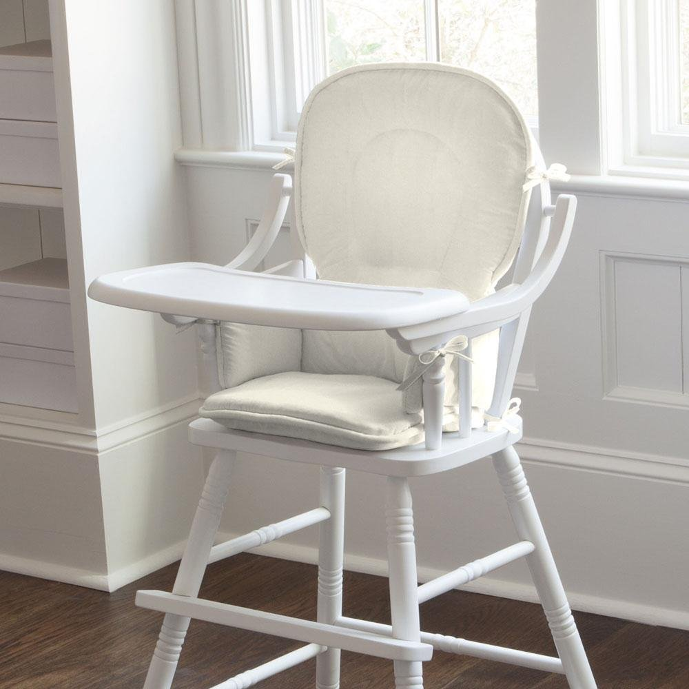 Carousel Designs Solid Ivory High Chair Pad