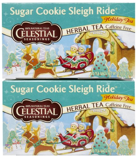 Celestial Seasonings Sugar Cookie Sleigh Ride Tea Bags - 20 ct - 2 Pack