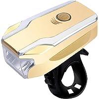 Milageto Luzes LED para bicicleta à prova d'água com buzina, luz frontal recarregável USB para bicicleta e luz principal…