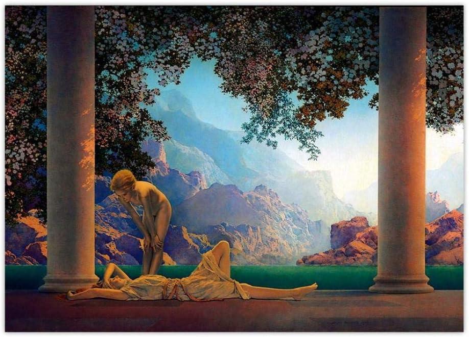 Arte de la Pared Vintage Poster Mitológica Aurora Naturaleza Diosa Impresión de la Lona Realismo Mágico Arte Imagen Decoración del Hogar 40x60cmx1 sin Marco