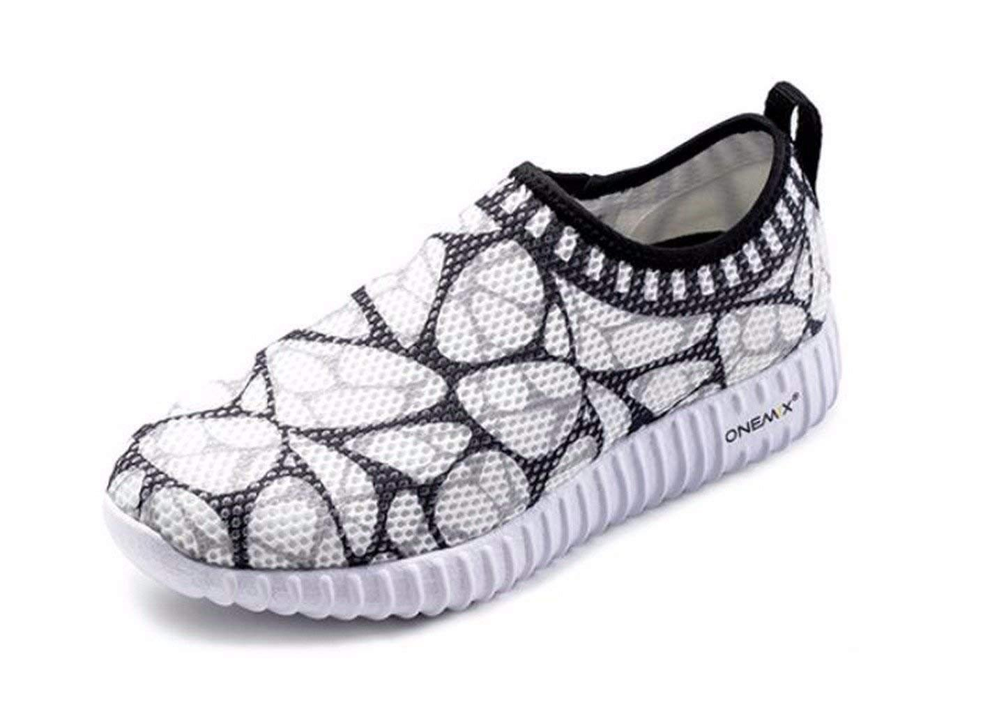 ONEMIX Women's Running Shoes Lightweight Brethable Mesh Roshe Run Walking Shoes Outdoor Sport Trainer Jogging Shoes Athletic Gym Light Sneaker - Black 7