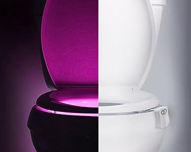 LED USB Toilettenlicht Nachtlicht Toilettendeckel Lampe Sensor Beleuchtung DE