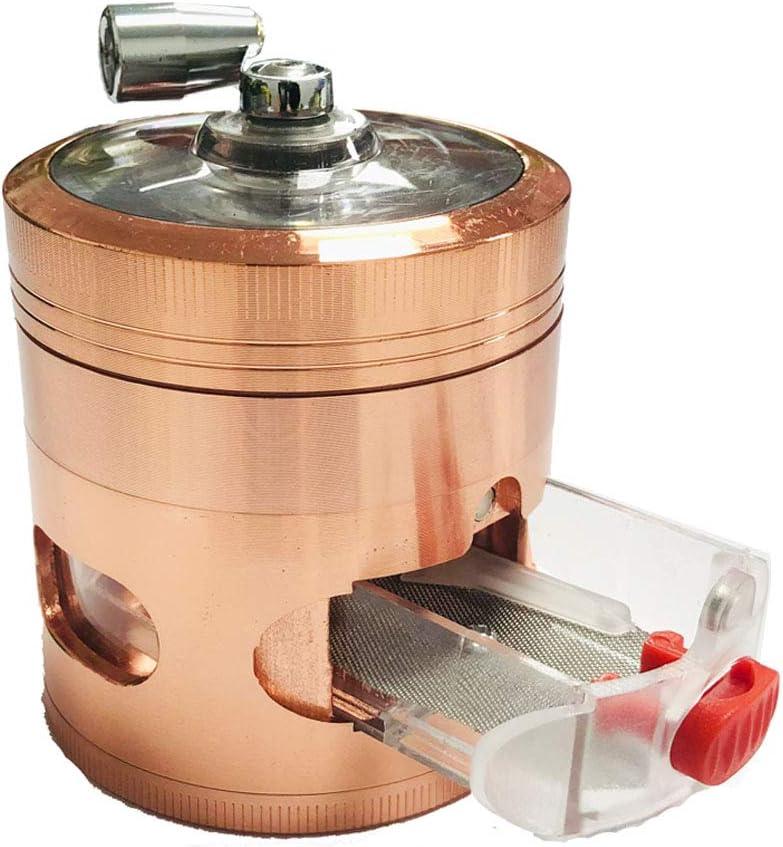 Tangger Mini Grinder 4 Piezas Metalico,Oro Rosa Grinder con Caj/ón para Especias Tabaco Polen