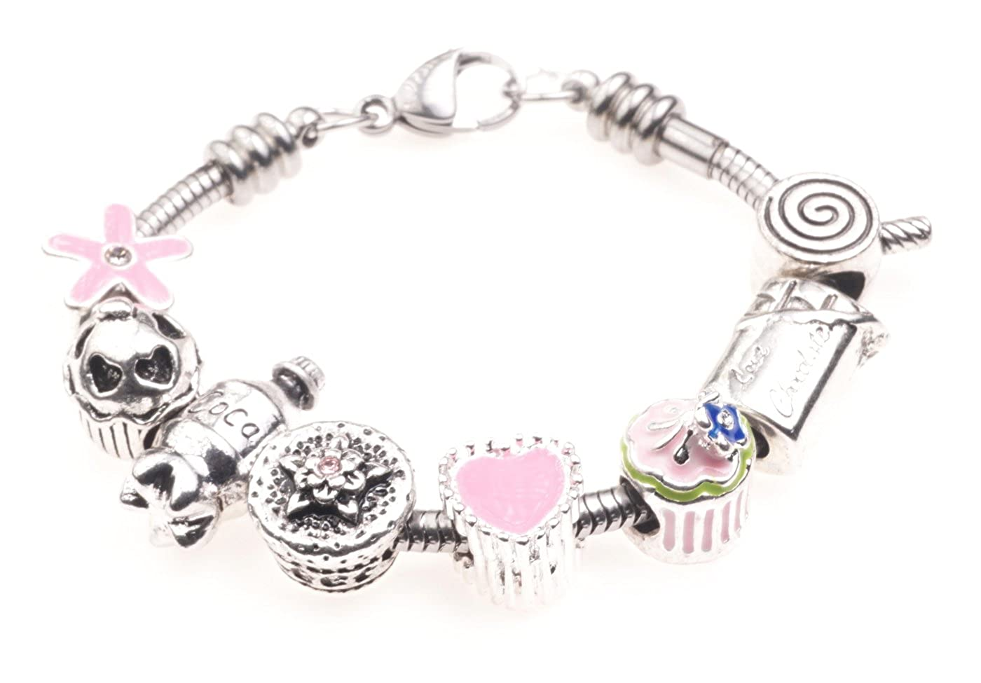 'Sweet Treats' Childrens Charm Bracelet with Gift Box Girls Jewellery Jewellery Hut BRkidsSweets