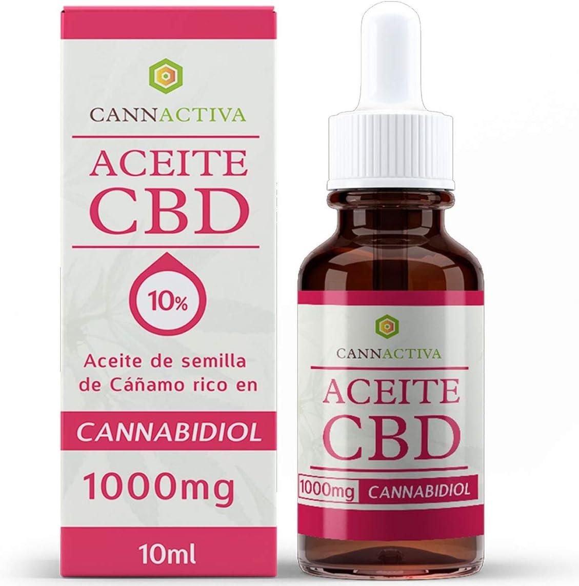 Cannactiva Aceite de CBD - 10% - 1000mg CBD - Aceite de cáñamo rico en CBD - 10ml