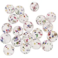 HOMYL 20PCS/Lots Rubber Clear Star Super Bouncy Balls Kids Toy Stocking Fillers Playing Fun 25mm