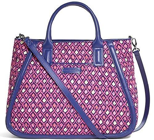 Gorgeous Vera Bradley Trapeze Tote Bag in Katalina Pink Diamonds