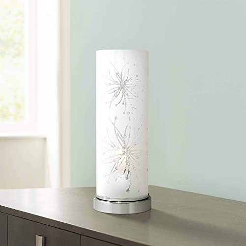 Frosted Glass Cylinder 14 1/4″ High Accent Table Lamp