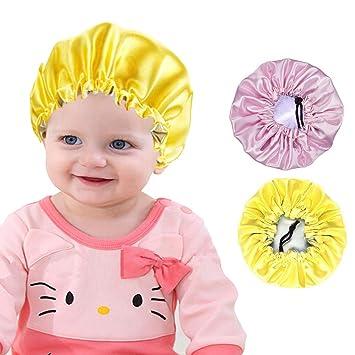 Baby Satin Bonnet Double Layer Sleep Cap Girl Night Turban Child Headwear Hats