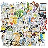 Cool Cartoon Laptop Stickers 100Pcs Pack, Water Bottle Travel Case Computer Wall Skateboard Motorcycle Phone Bicycle Luggage Guitar Bike Stickers Decal